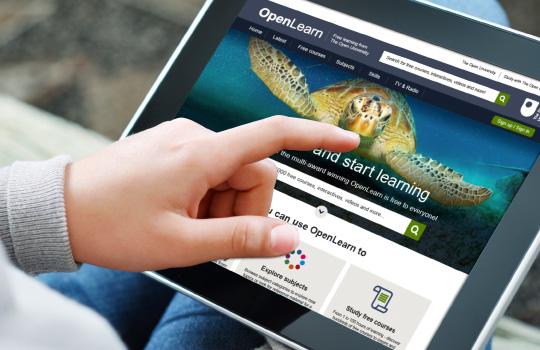 OpenLearn website on ipad